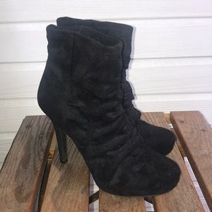 BCBGeneration Black Heeled Ankle Booties